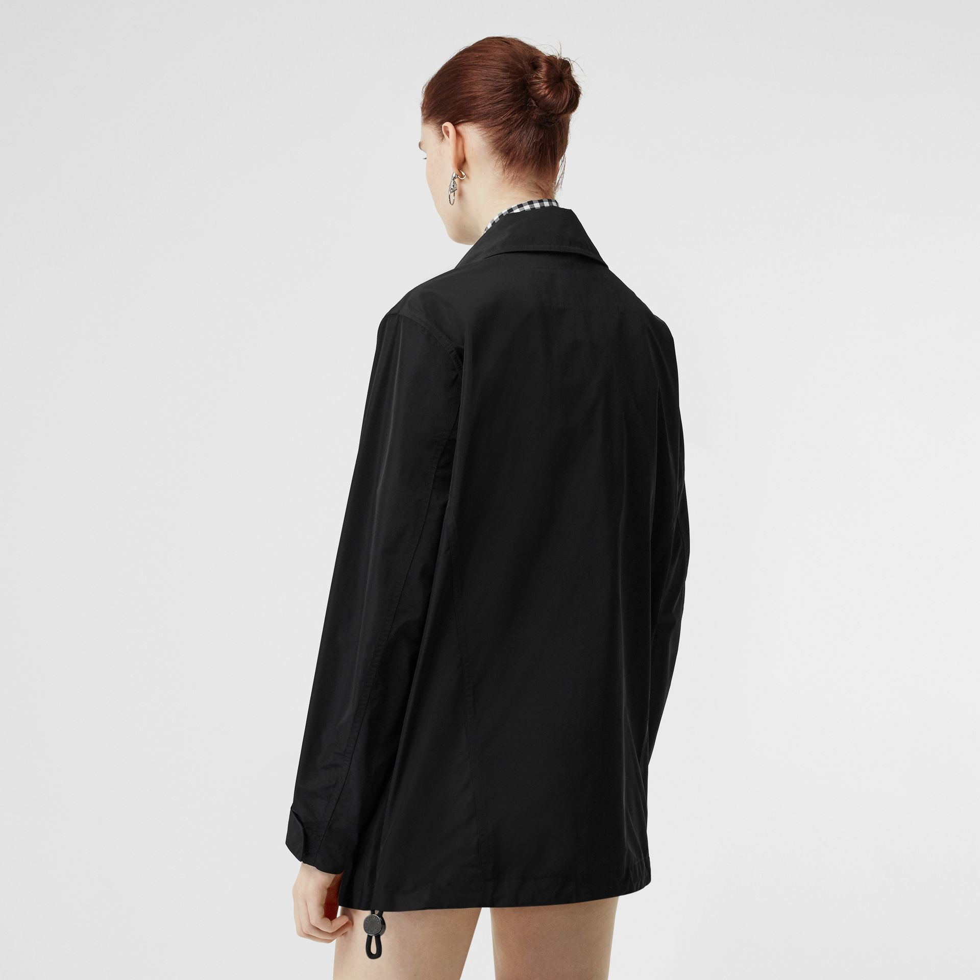 Detachable Hood Shape-memory Taffeta Jacket in Black - Women | Burberry Australia - gallery image 2