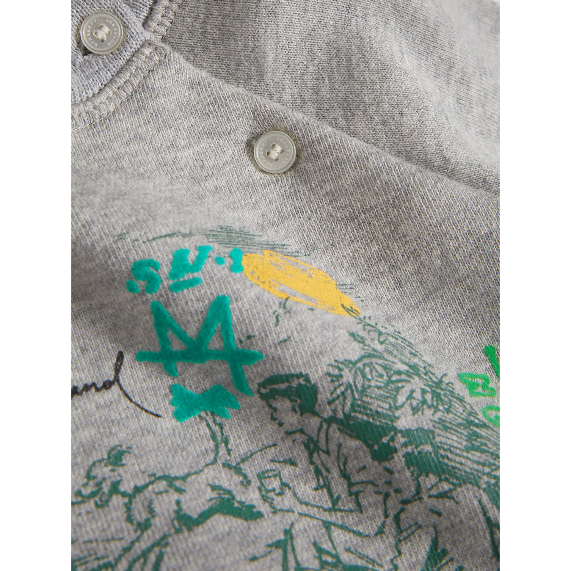 Adventure Motif Cotton Jersey Sweatshirt in Grey Melange - Children | Burberry - gallery image 1