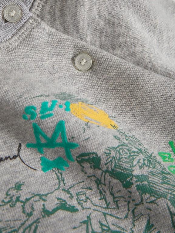 Adventure Motif Cotton Jersey Sweatshirt in Grey Melange - Children | Burberry United States - cell image 1