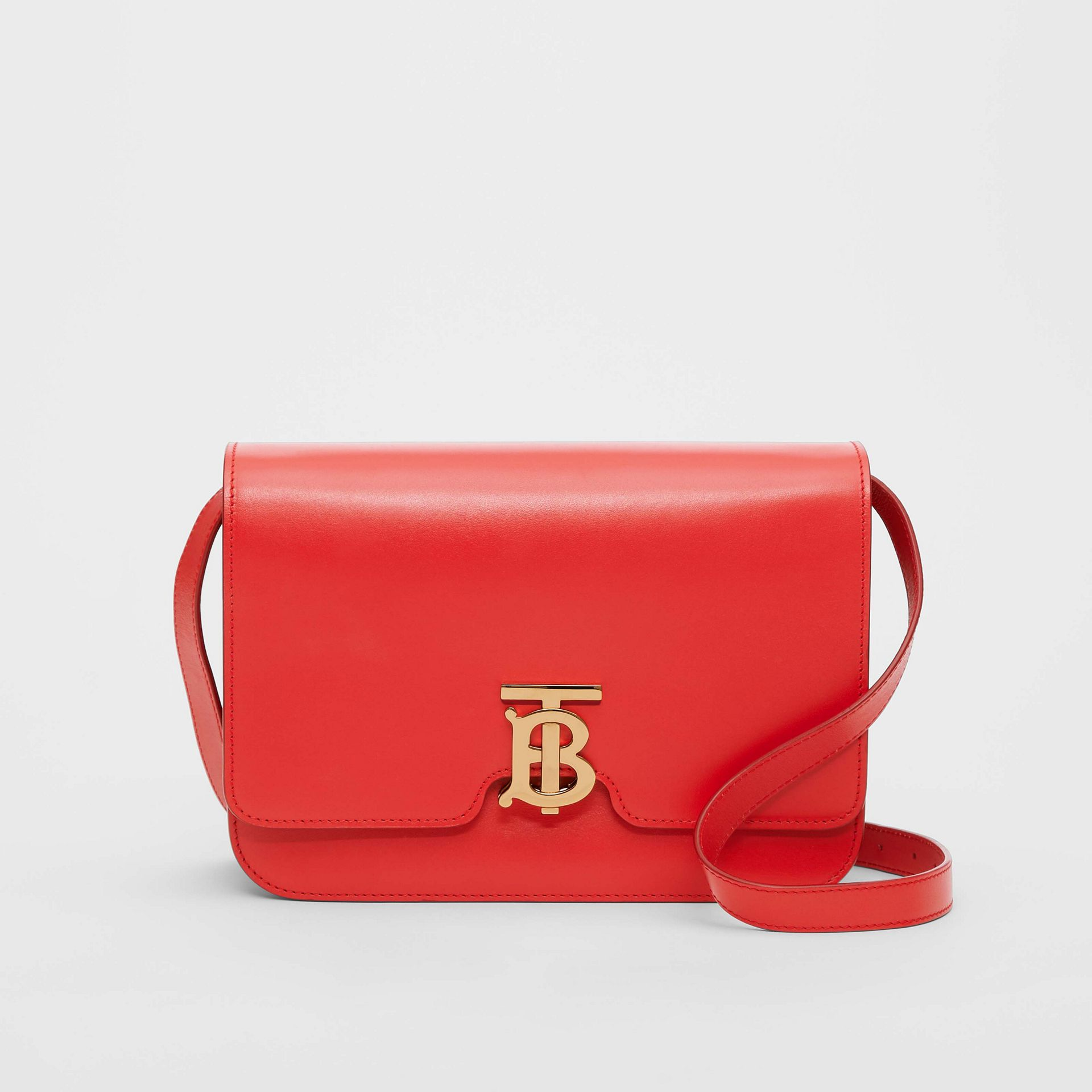 Medium Leather TB Bag in Bright Red - Women | Burberry United States - gallery image 0