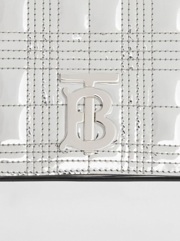 Small Quilted Metallic Leather Lola Bag in Silver - Women | Burberry United Kingdom - cell image 1