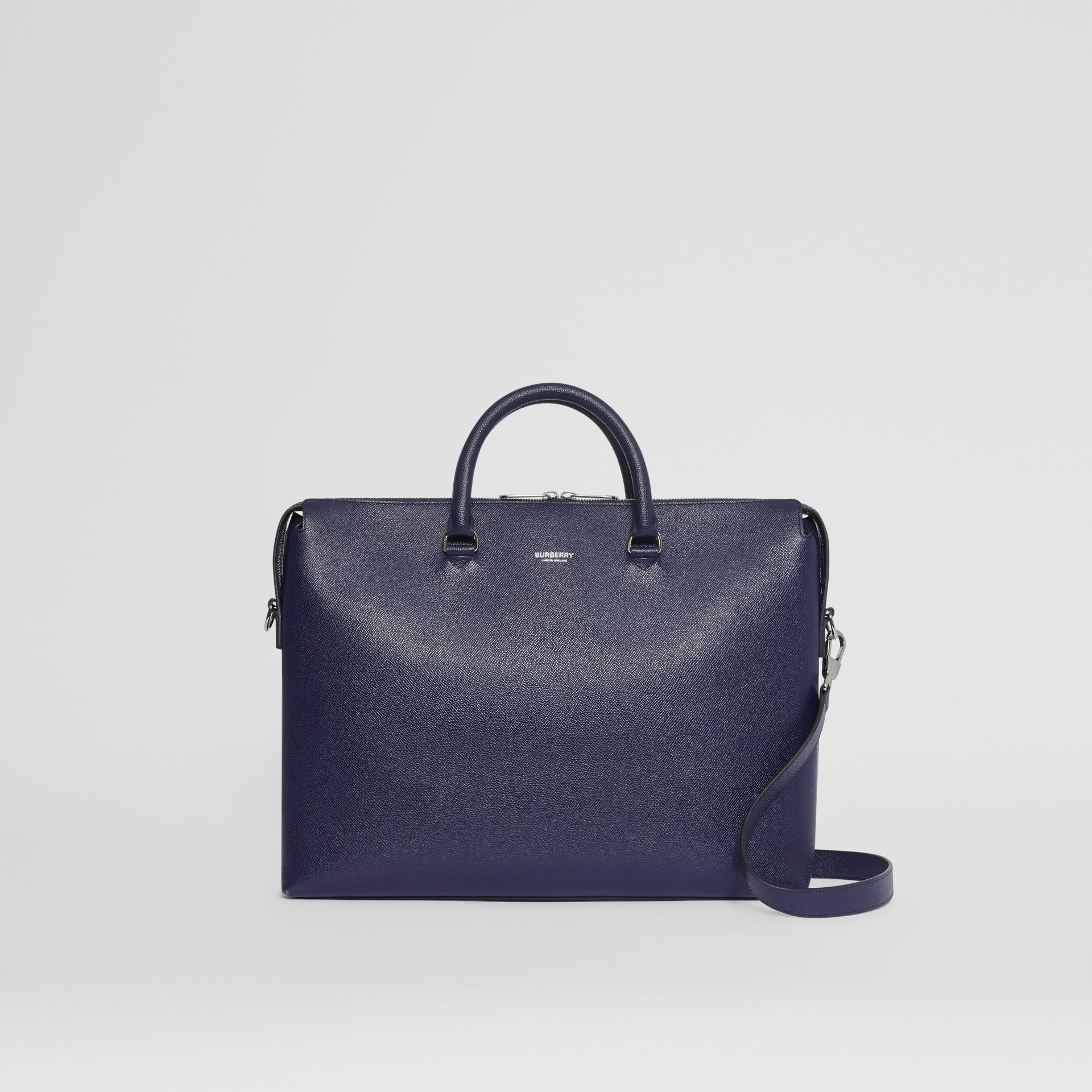 Triple Stud Grainy Leather Briefcase in Regency Blue - Men | Burberry - gallery image 0