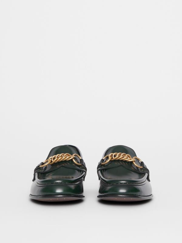 The Leather Link Loafer in Deep Green - Women | Burberry United States - cell image 3