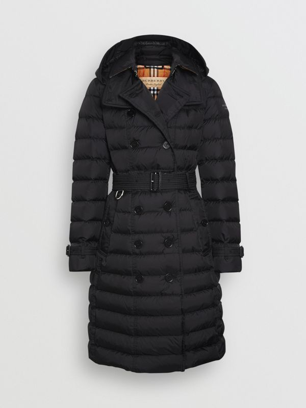 Detachable Hood Down-filled Puffer Coat in Black - Women | Burberry Hong Kong - cell image 3