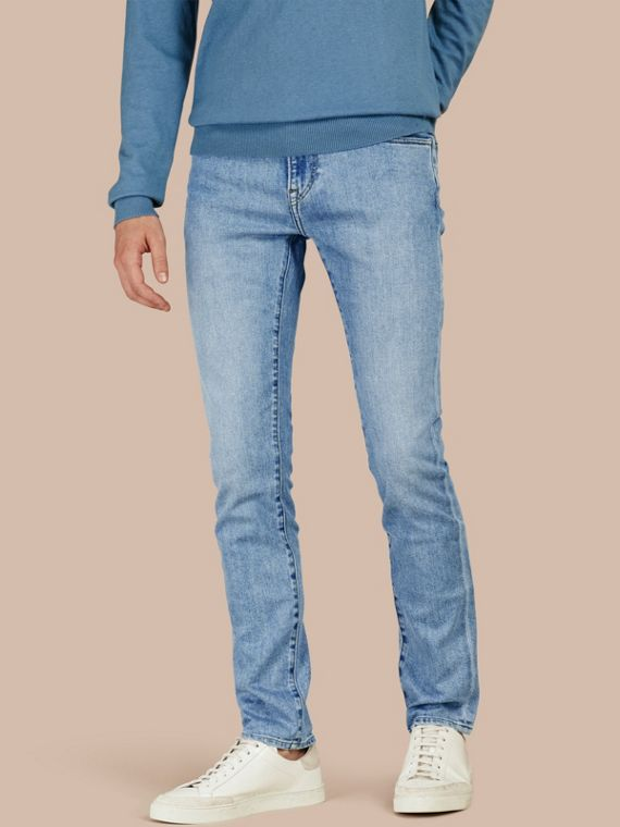 Jeans aderenti in comodo denim stretch giapponese