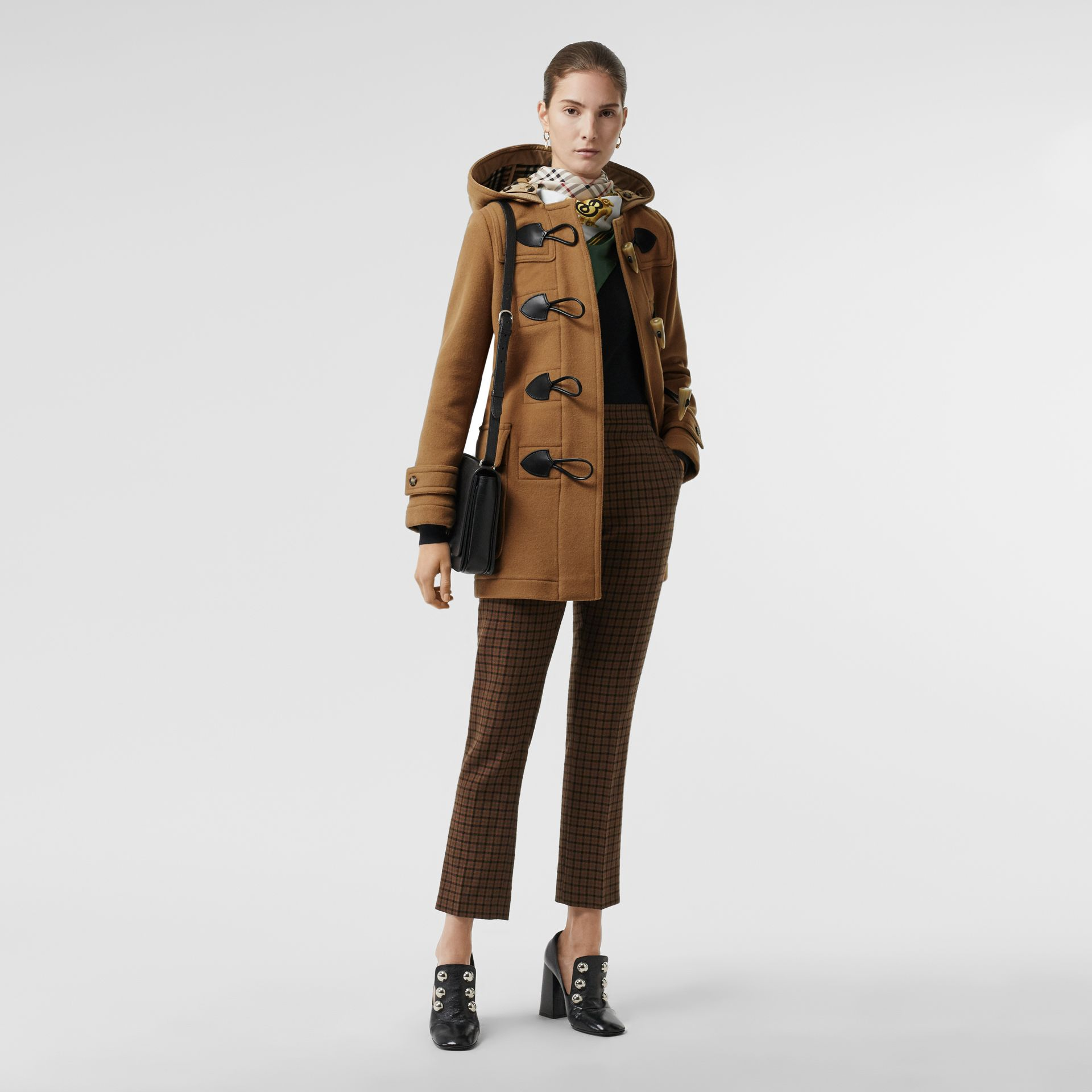 Wool Blend Duffle Coat in Camel - Women | Burberry United Kingdom - gallery image 0