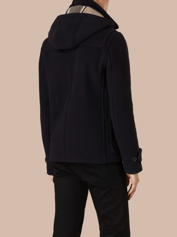 Navy Wool Duffle Jacket with Detachable Hood - cell image 2