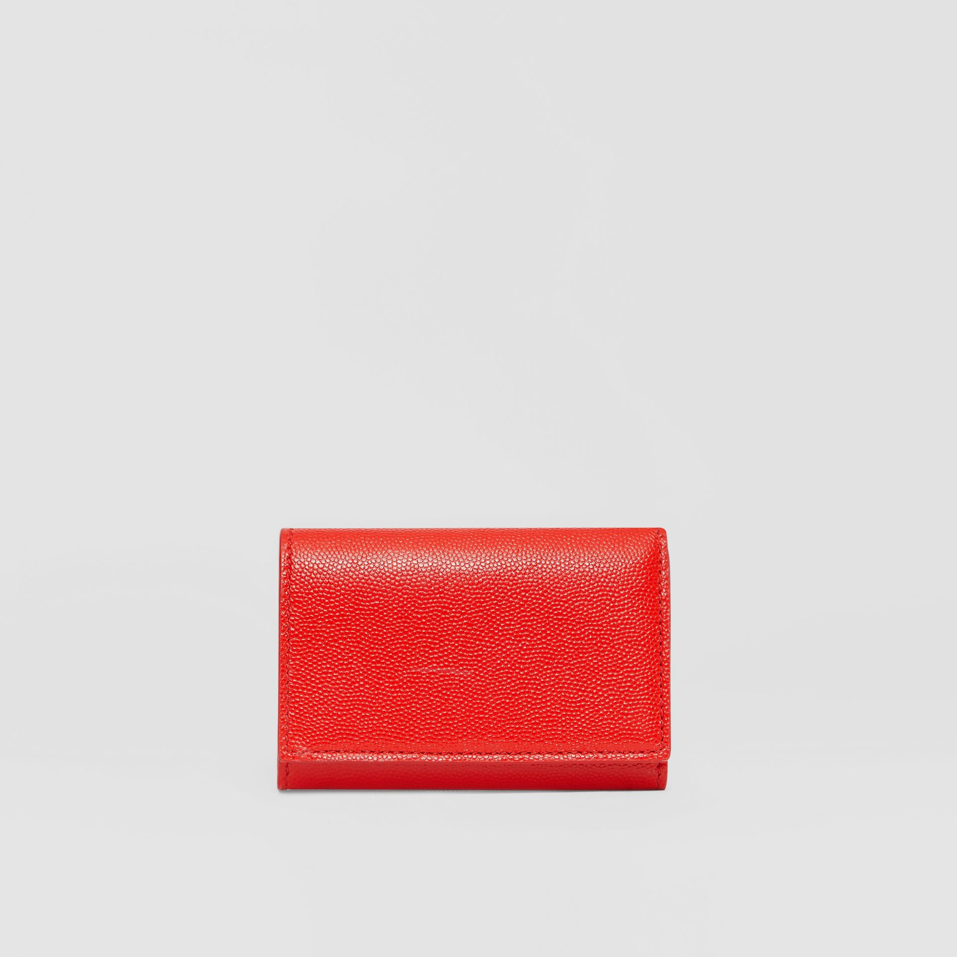 Small Grainy Leather Folding Wallet in Bright Red - Women | Burberry Singapore - gallery image 4