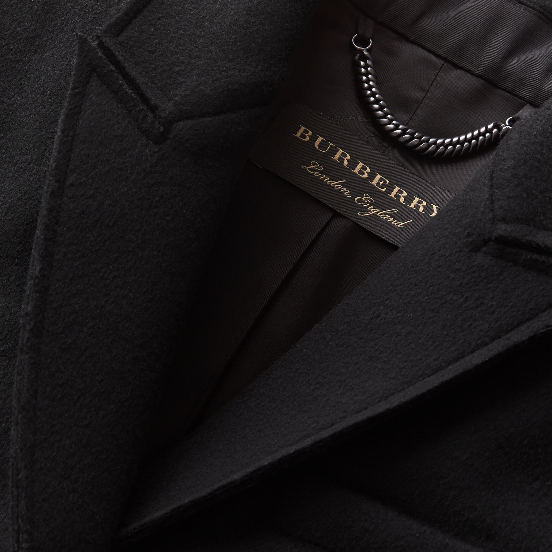 Double-faced Wool Cape Jacket in Black - Women | Burberry - gallery image 2