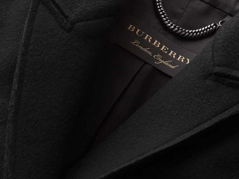 Double-faced Wool Cape Jacket in Black - Women | Burberry - cell image 1
