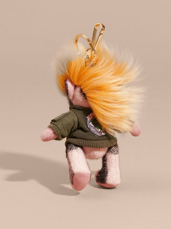 Thomas Bear Charm with Shearling and Pallas Heads Appliqué Bomber in Ash Rose - Women | Burberry Australia - cell image 3