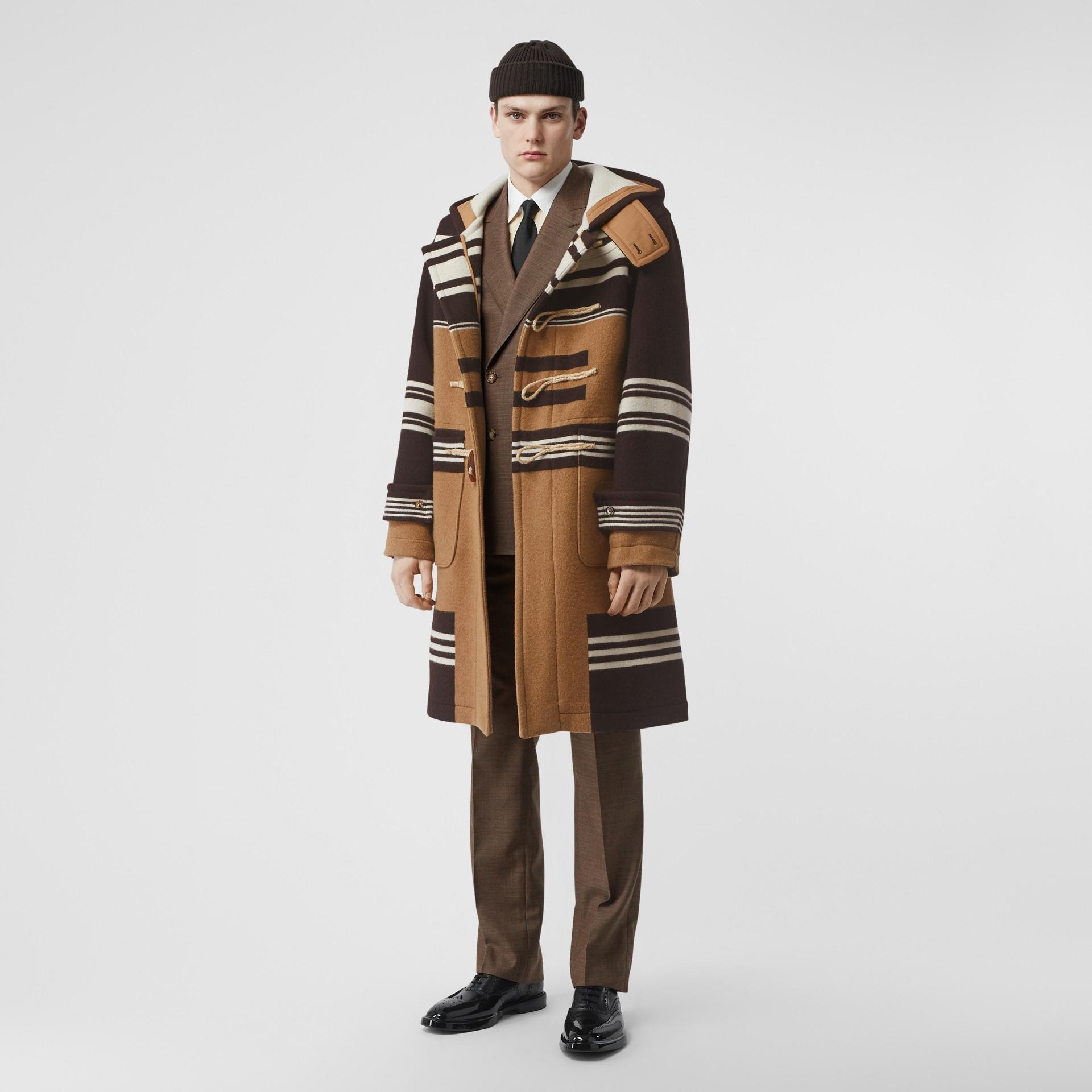 Dufflecoat aus Wolle mit Streifendetail (Camelfarben) - Herren | Burberry - Galerie-Bild 0