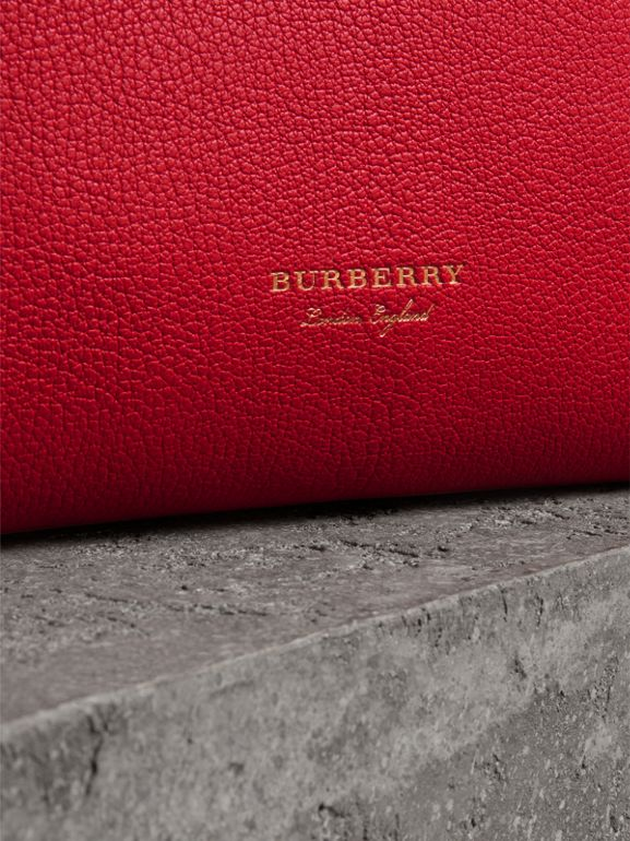 Grainy Leather Wristlet Clutch in Bright Red - Women | Burberry Australia - cell image 1