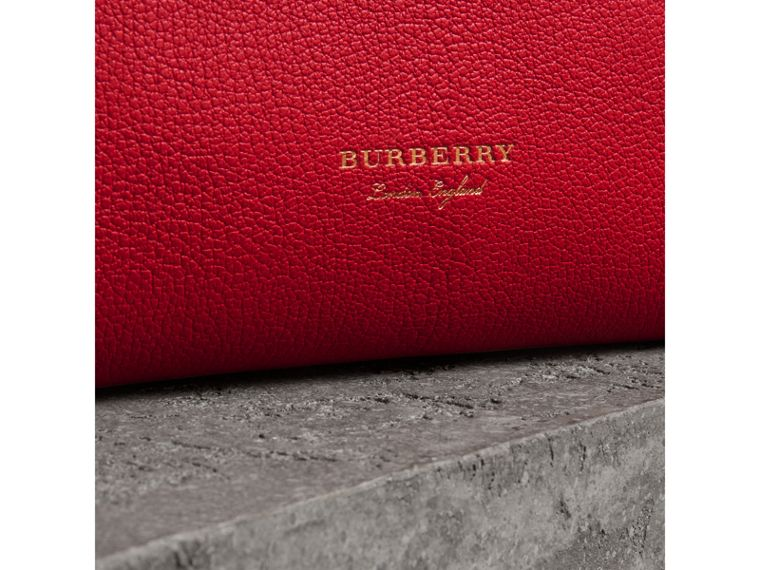Grainy Leather Wristlet Clutch in Bright Red - Women | Burberry Canada - cell image 1