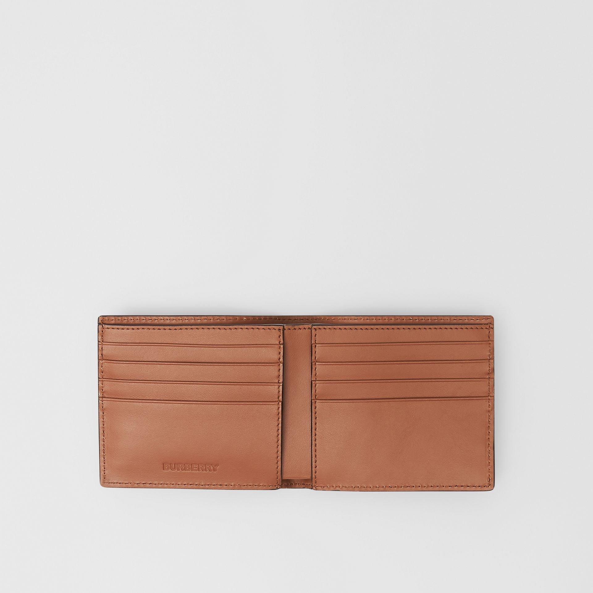Horseferry Print Leather International Bifold Wallet in Malt Brown - Men | Burberry - gallery image 2