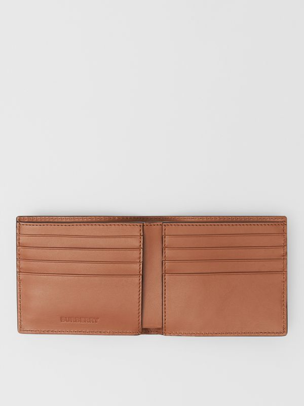 Horseferry Print Leather International Bifold Wallet in Malt Brown - Men | Burberry - cell image 2