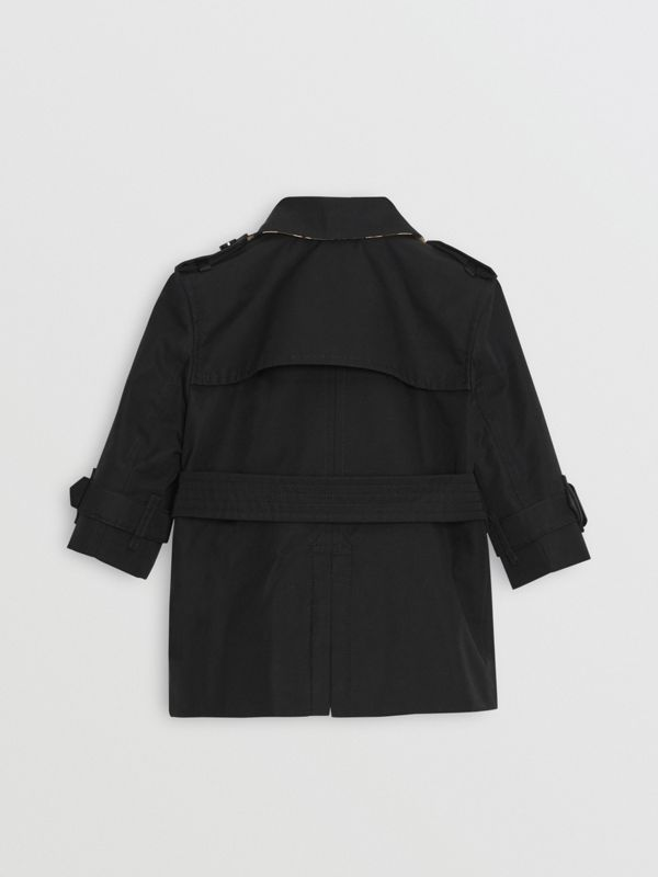 Cotton Gabardine Trench Coat in Black - Children | Burberry United Kingdom - cell image 3
