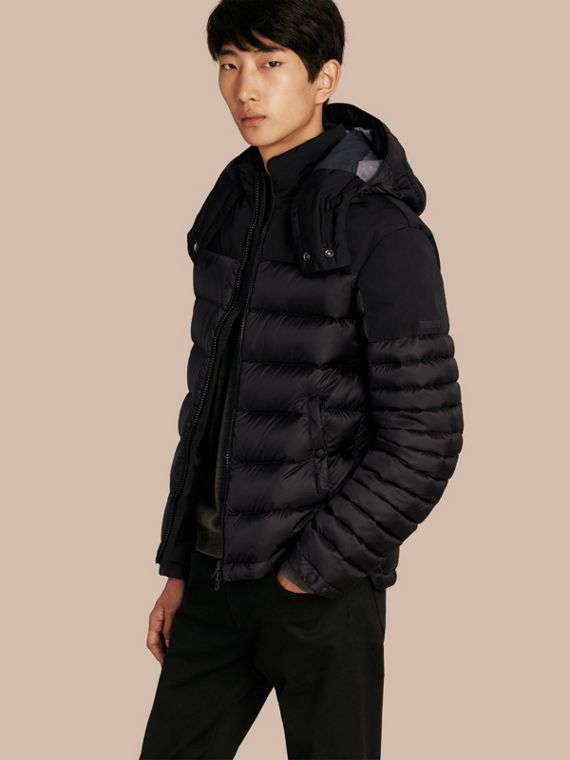 Mid-weight Down-filled Technical Puffer Jacket Black