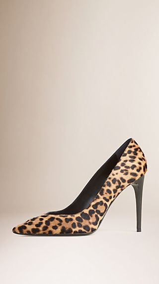 Animal Print Calfskin Pumps