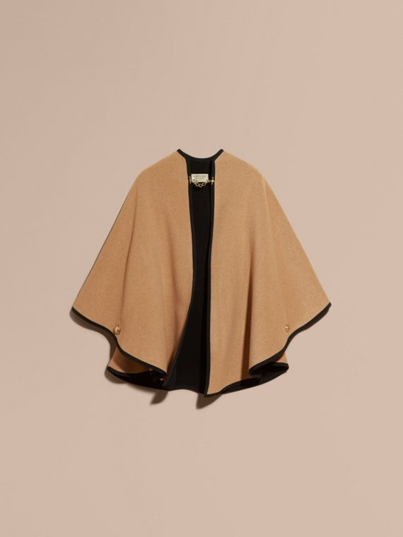 Camel/black Wool Cashmere Military Cape Camel/black - cell image 3