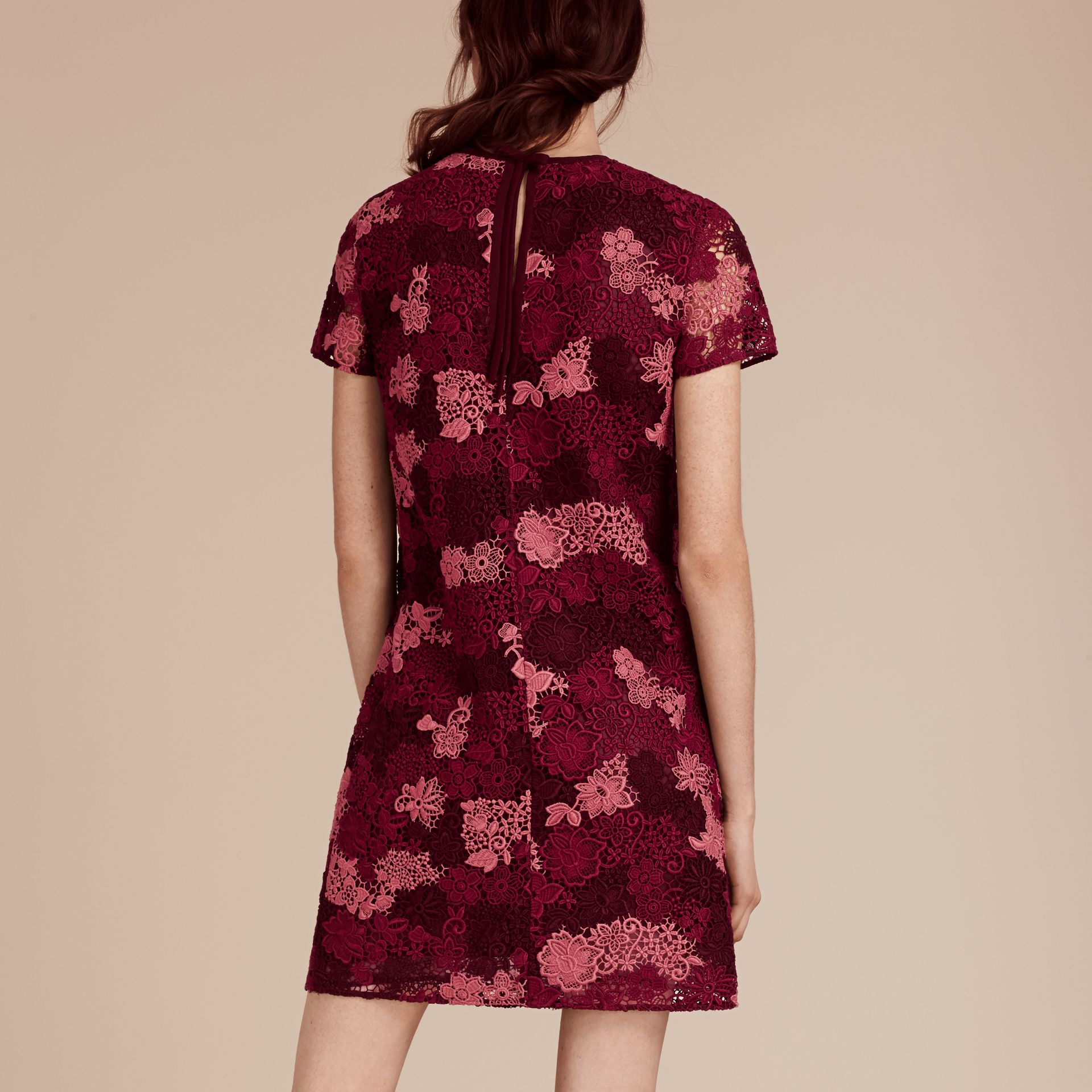 Deep claret Italian-woven Lace T-shirt Dress Deep Claret - gallery image 3