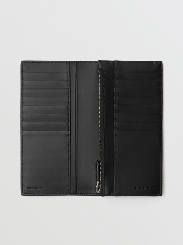 Grainy Leather Continental Wallet in Black - Men | Burberry Australia - cell image 3