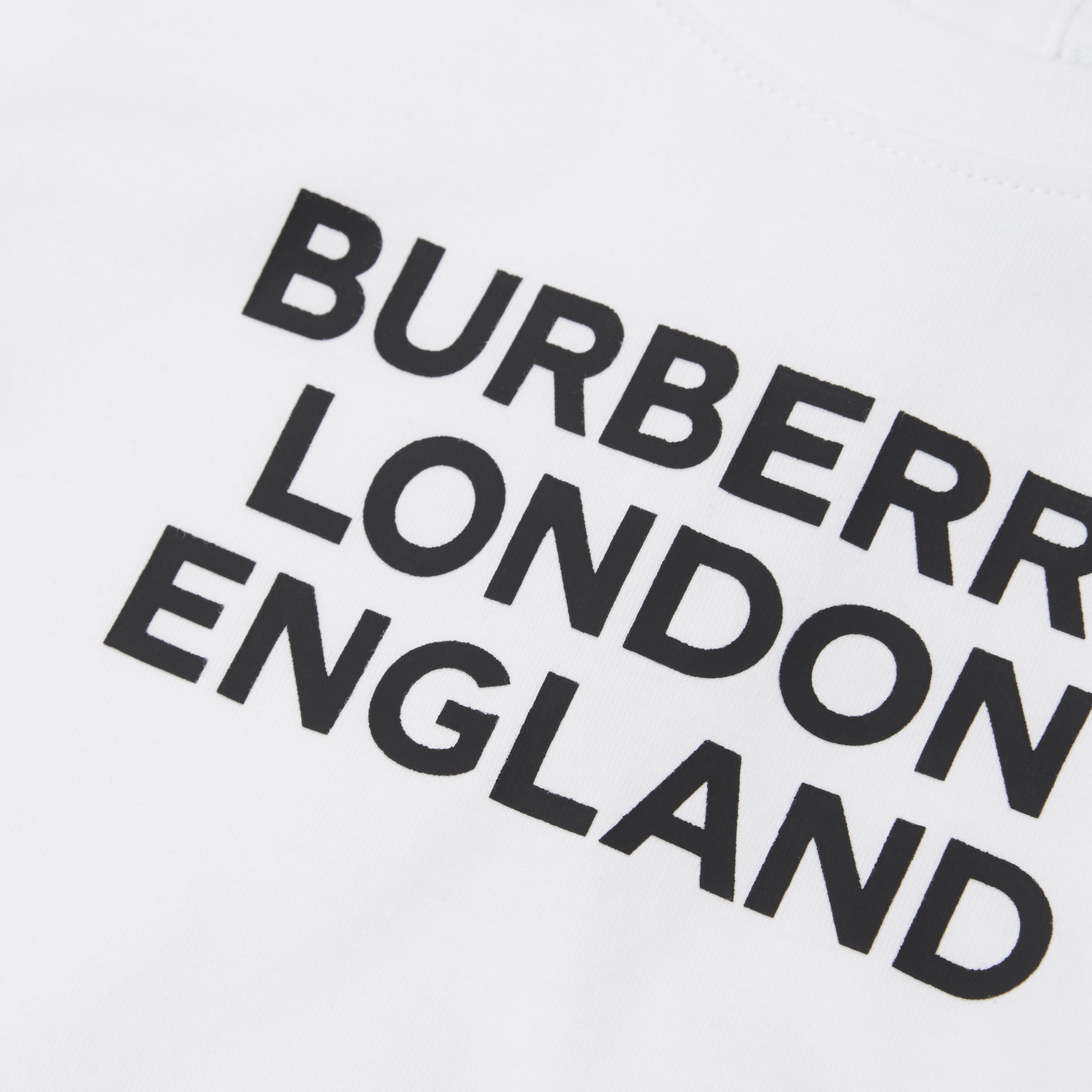 Long-sleeve Logo Print Cotton Top in White - Children | Burberry Australia - 2