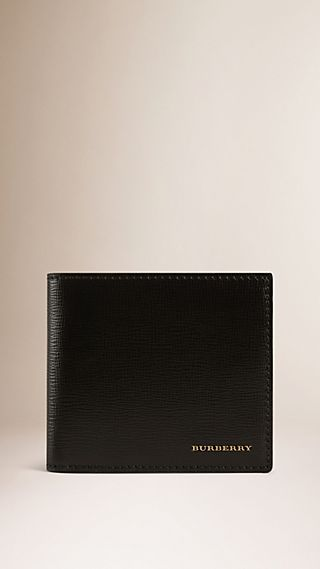 London Leather Folding Coin Wallet