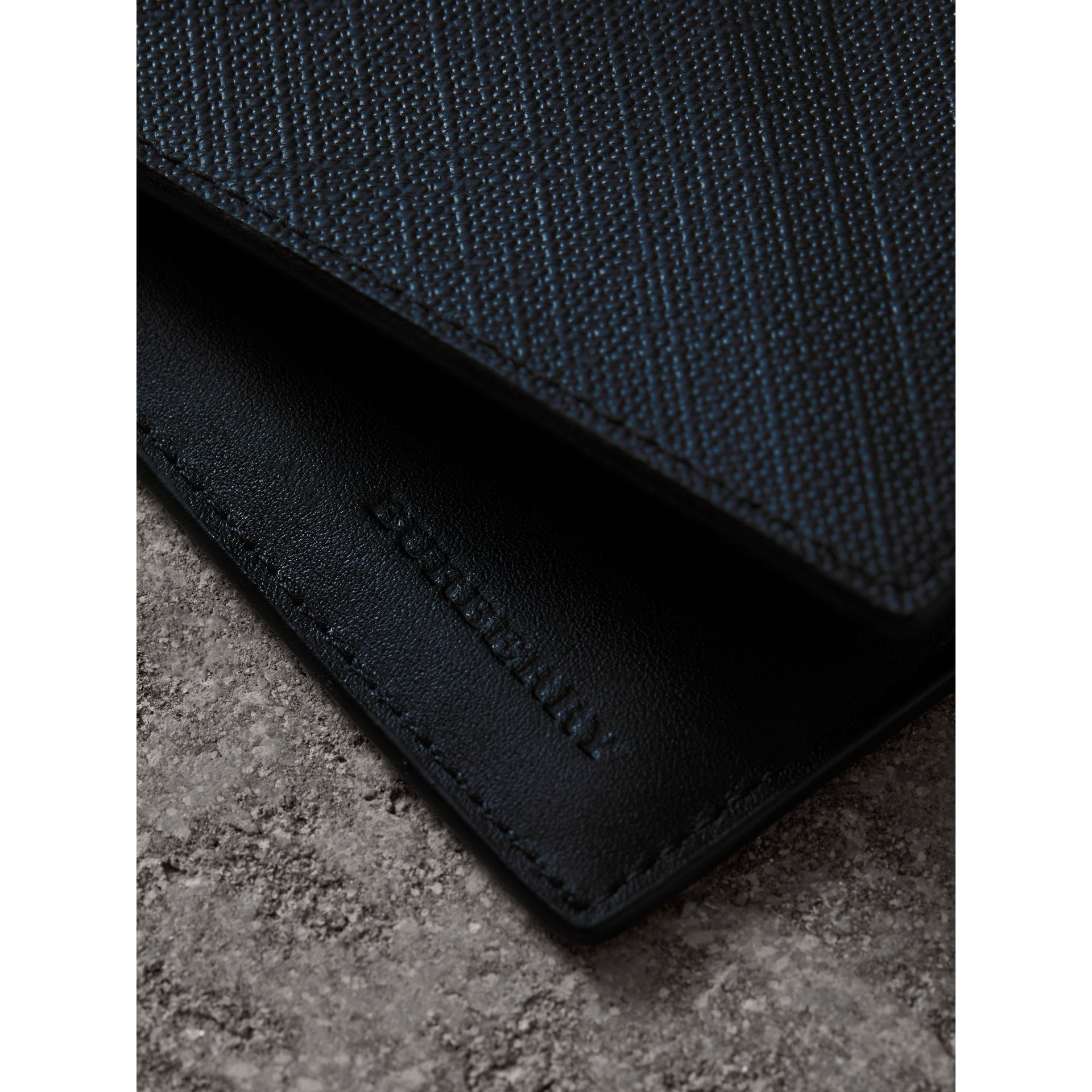London Check International Bifold Wallet in Navy/black - Men | Burberry - gallery image 1
