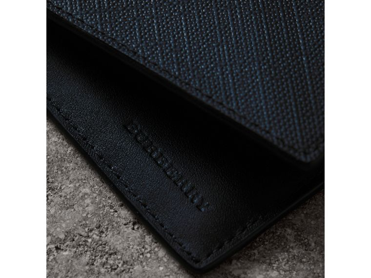 London Check International Bifold Wallet in Navy/black - Men | Burberry United States - cell image 1