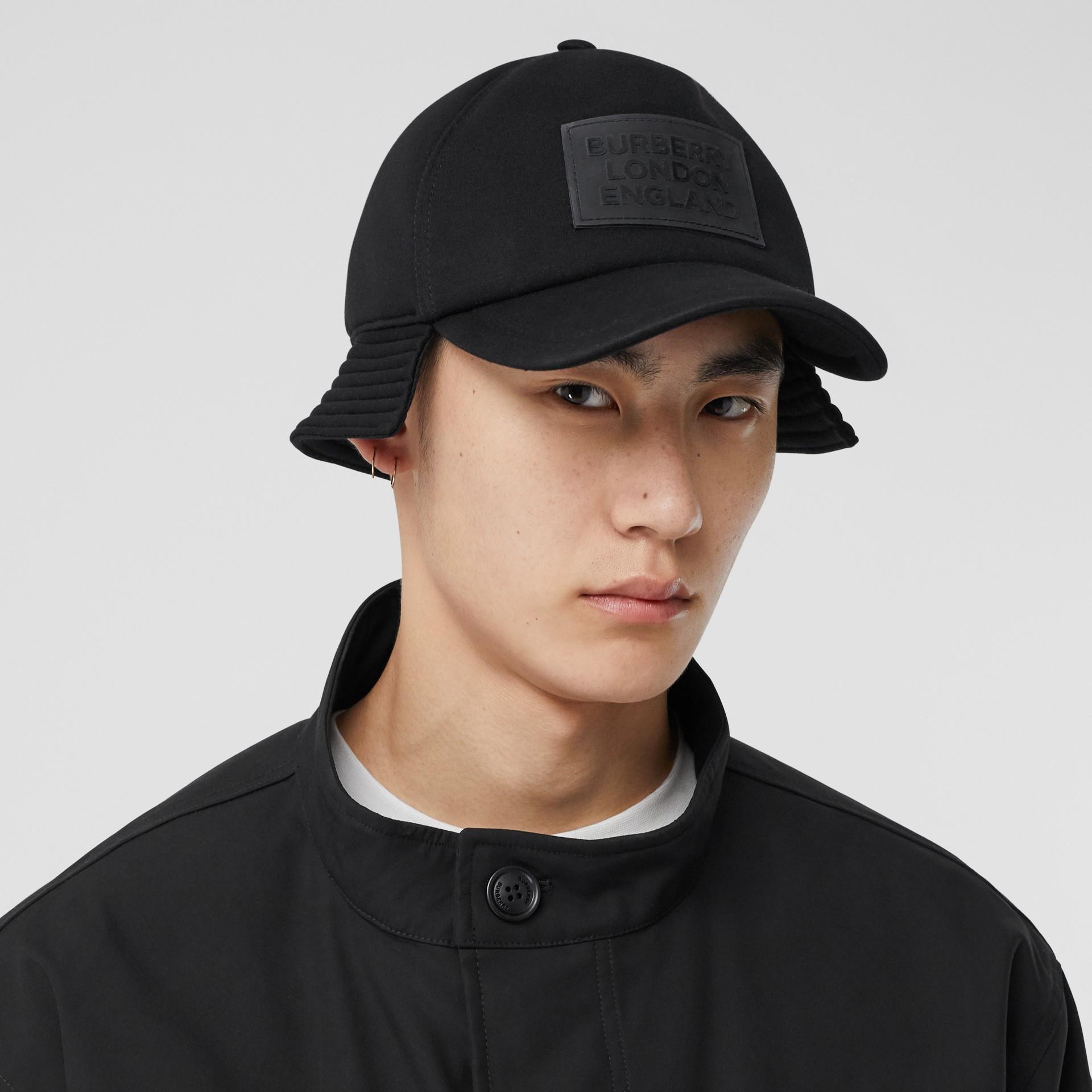 Veste en coton contrecollé avec gilet intérieur amovible (Noir) - Homme | Burberry - photo de la galerie 1