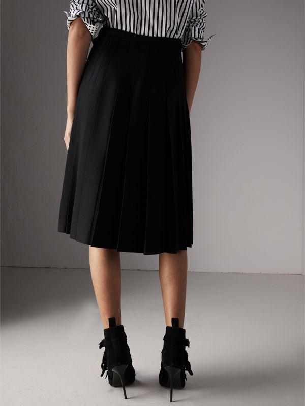 Wool Twill Kilt in Black - Women | Burberry - cell image 2