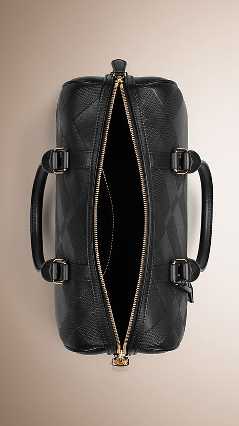 Black The Medium Alchester in Embossed Check Leather - Image 5