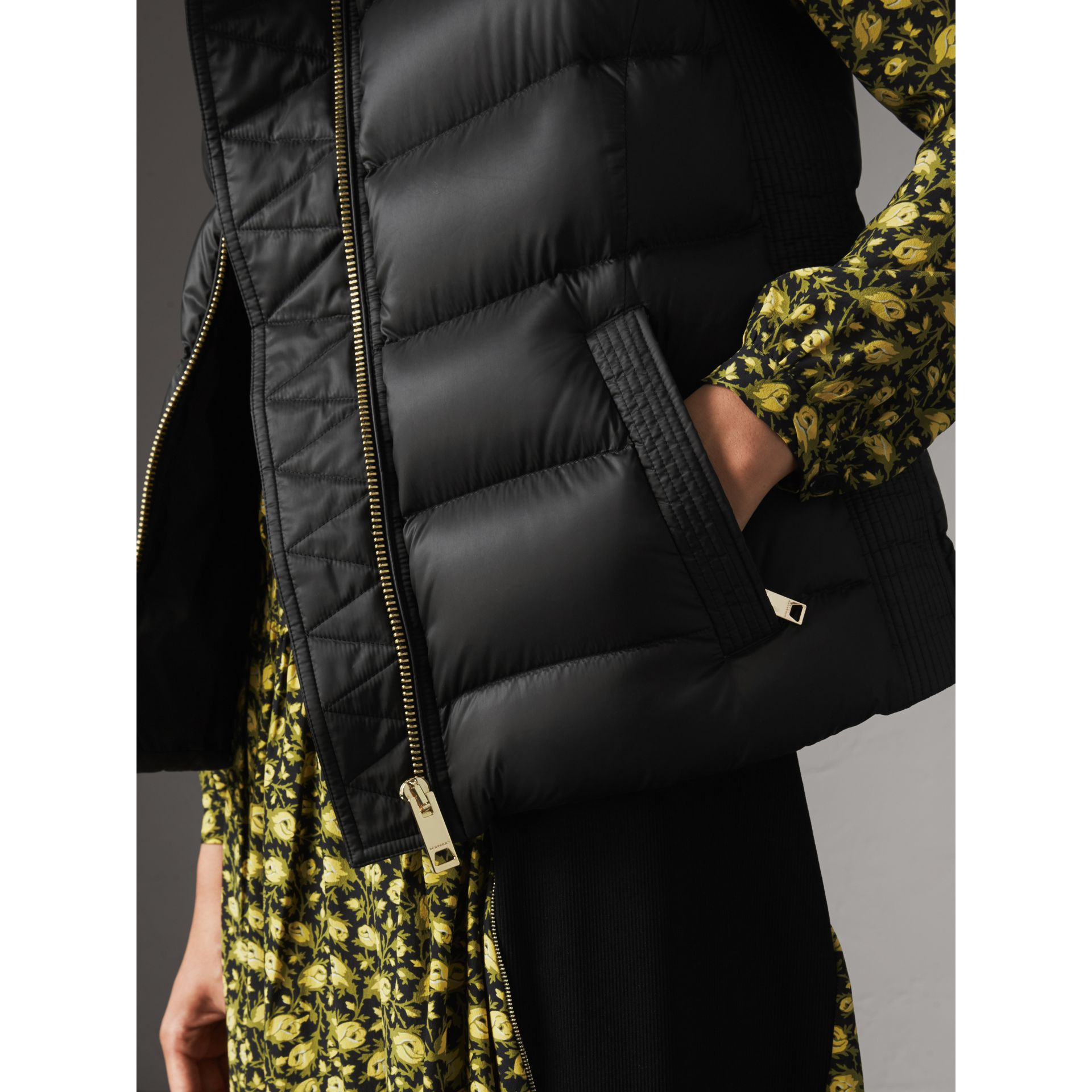 Down-filled Gilet in Black - Women | Burberry United Kingdom - gallery image 2