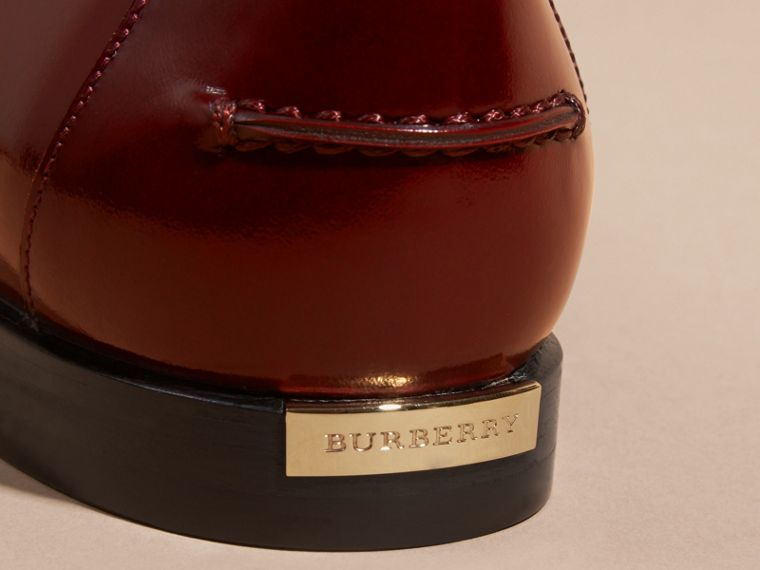 Mahogany red Polished Leather Loafers Mahogany Red - cell image 1