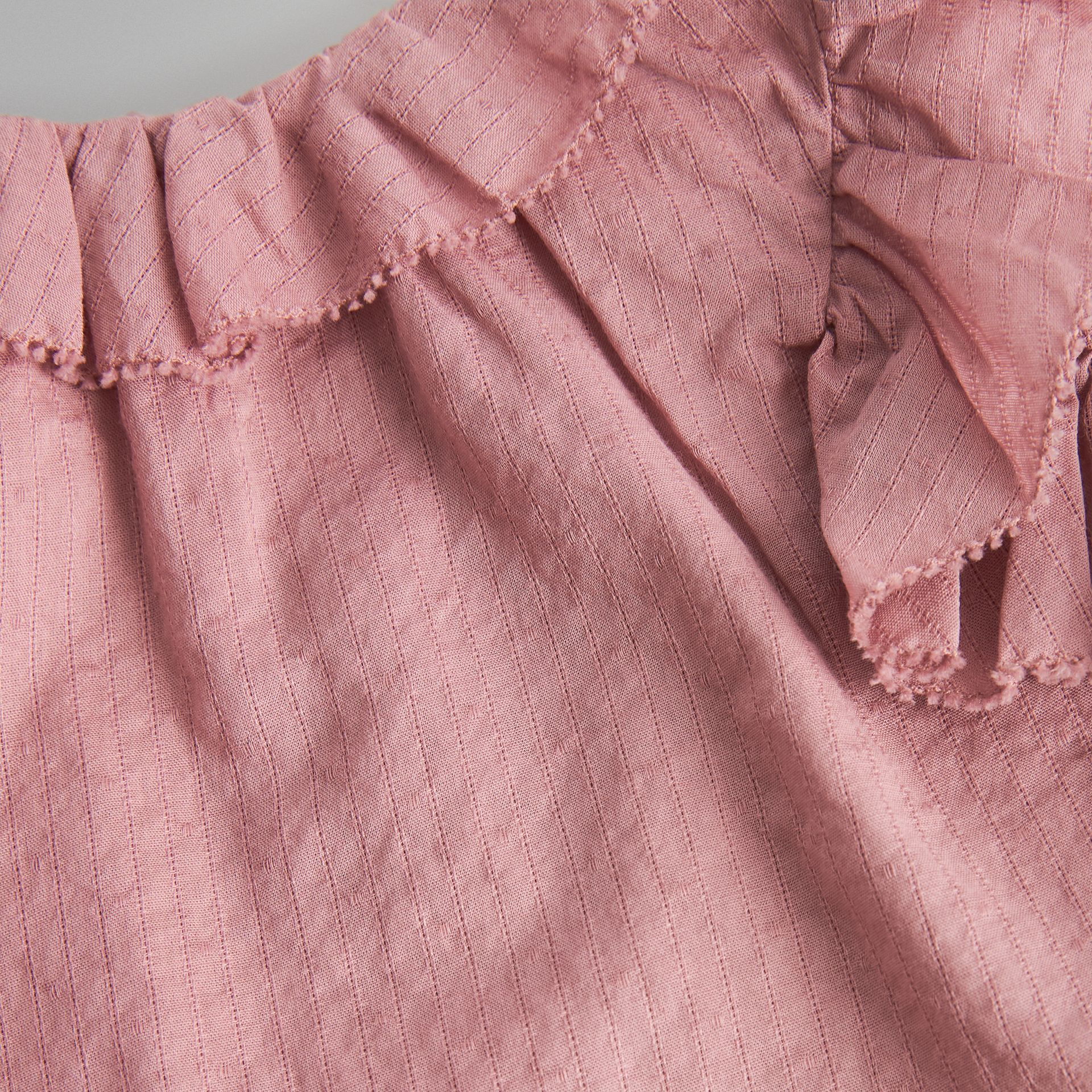 Ruffle Detail Cotton Dress with Bloomers in Light Elderberry - Children | Burberry Singapore - gallery image 1
