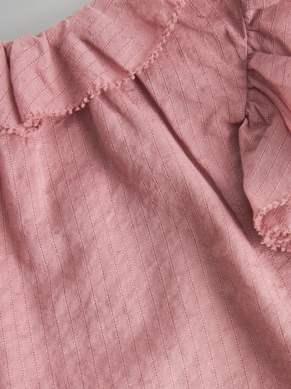 Ruffle Detail Cotton Dress with Bloomers in Light Elderberry - Children | Burberry Singapore - cell image 1
