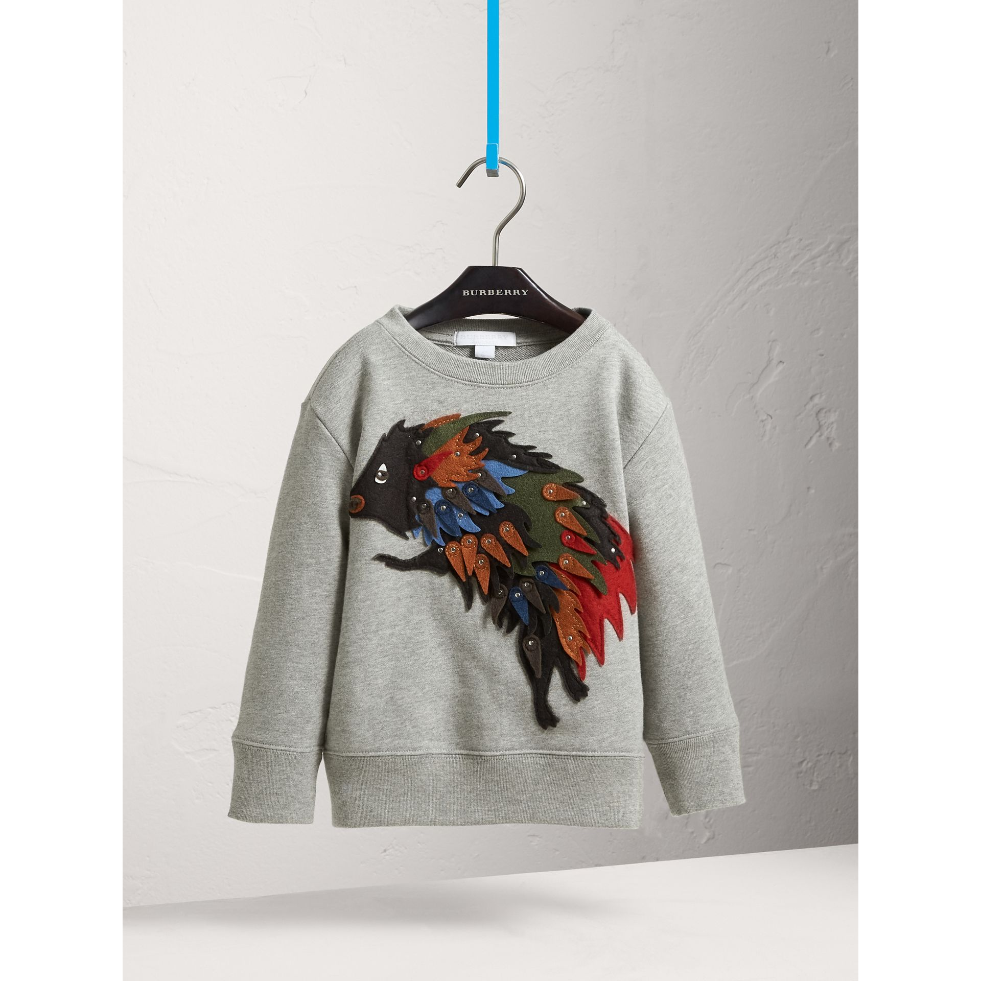 Beasts Appliqué Cotton Jersey Sweatshirt - Boy | Burberry Australia - gallery image 3
