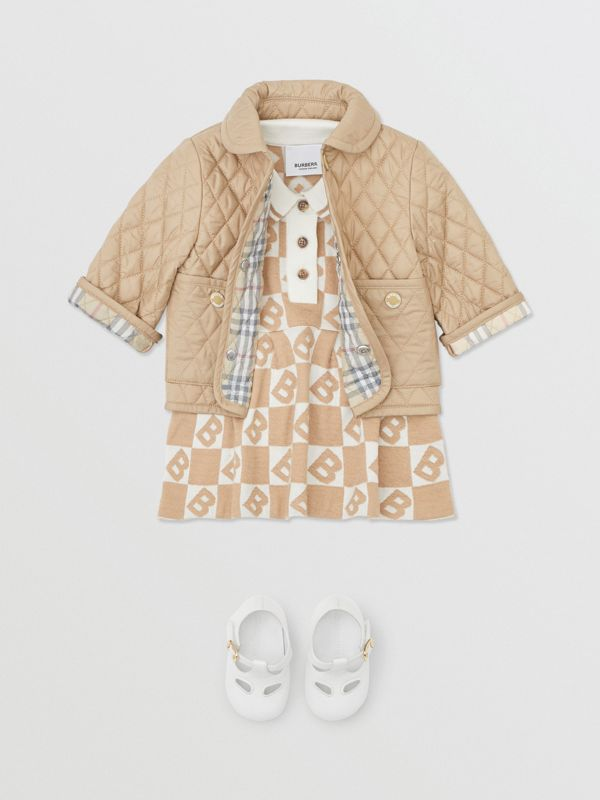Showerproof Diamond Quilted Jacket in Walnut - Children | Burberry Hong Kong S.A.R - cell image 2