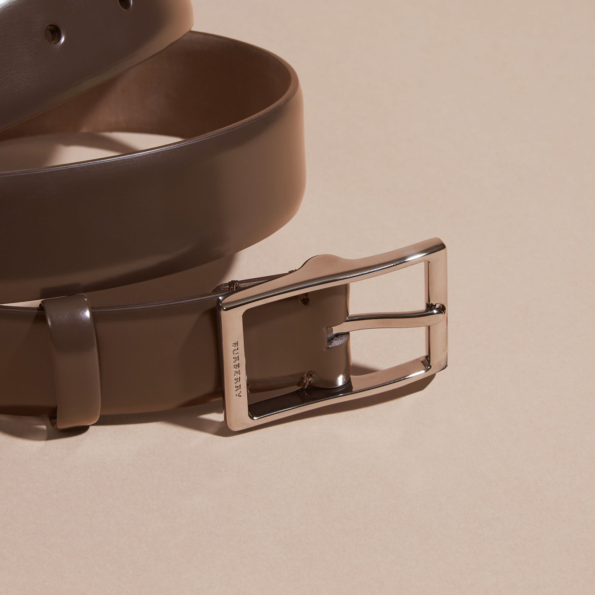Bridle Leather Belt in Bitter Chocolate - Men | Burberry - gallery image 2