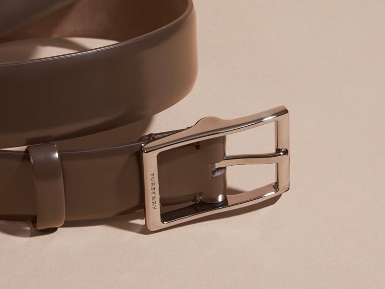 Bridle Leather Belt in Bitter Chocolate - Men | Burberry - cell image 1