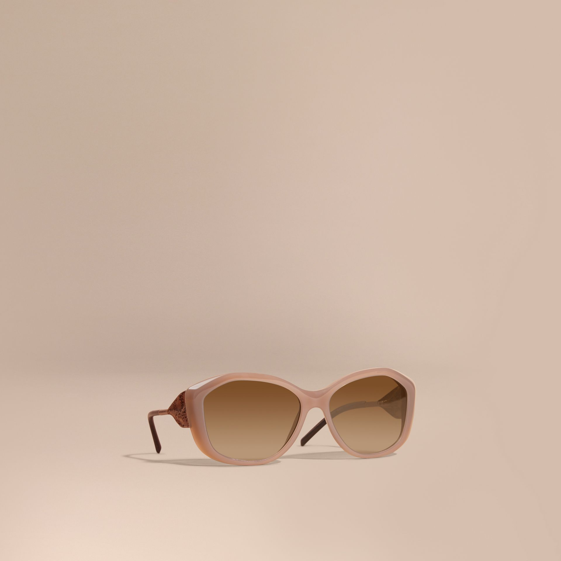 Opal beige Gabardine Lace Collection Square Frame Sunglasses Opal Beige - gallery image 1