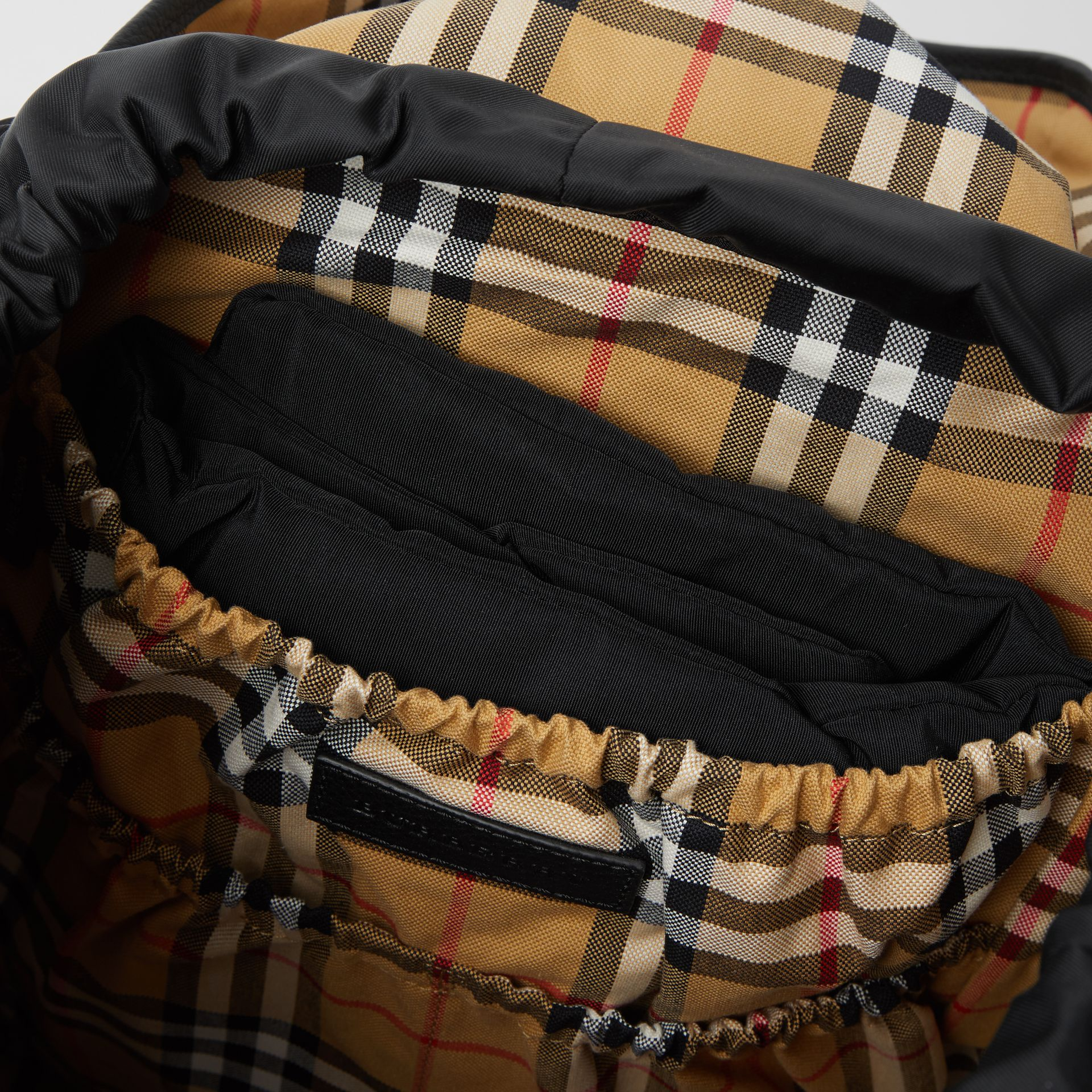 Leather Trim Baby Changing Rucksack in Black - Children | Burberry Canada - gallery image 3