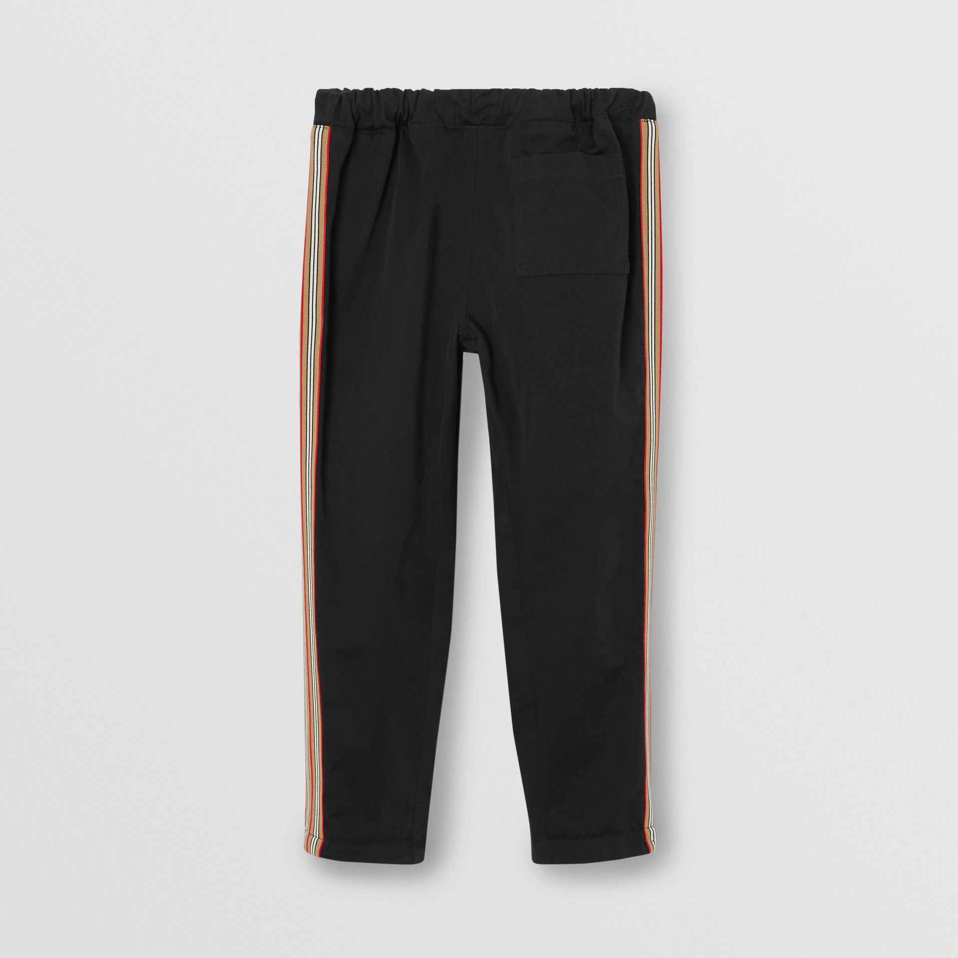 Pantalon chino en coton à rayures iconiques (Noir) | Burberry Canada - photo de la galerie 3