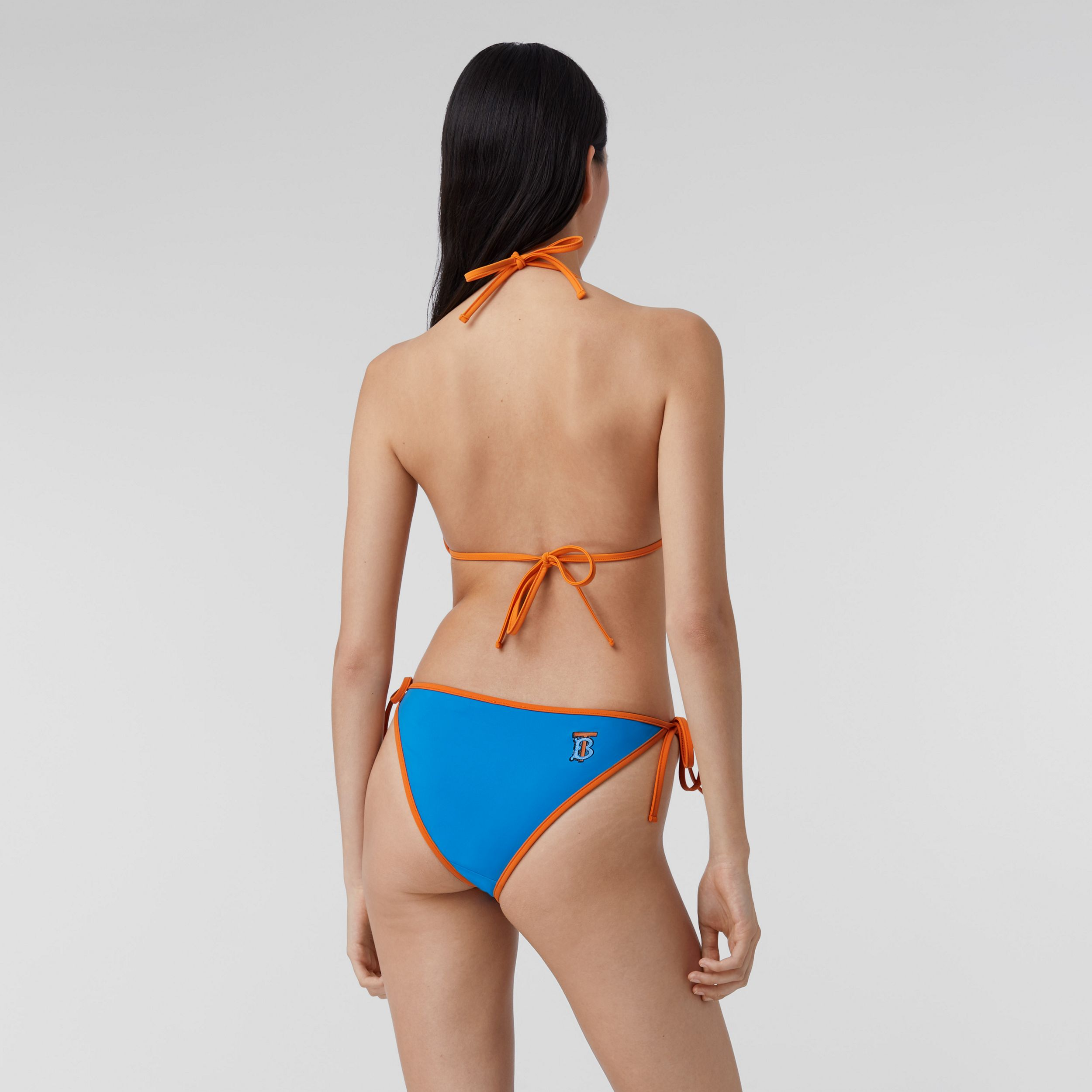Monogram Motif Triangle Bikini in Bright Cobalt - Women | Burberry Australia - 2
