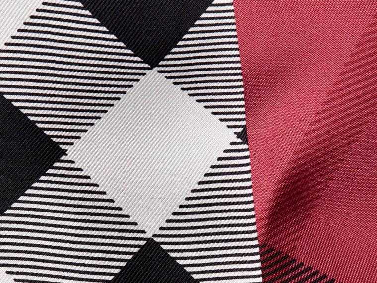 Blush pink Check Print Slim Silk Scarf Blush Pink - cell image 1