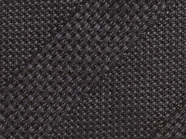 Charcoal Modern Cut Striped Silk Jacquard Tie Charcoal - cell image 1