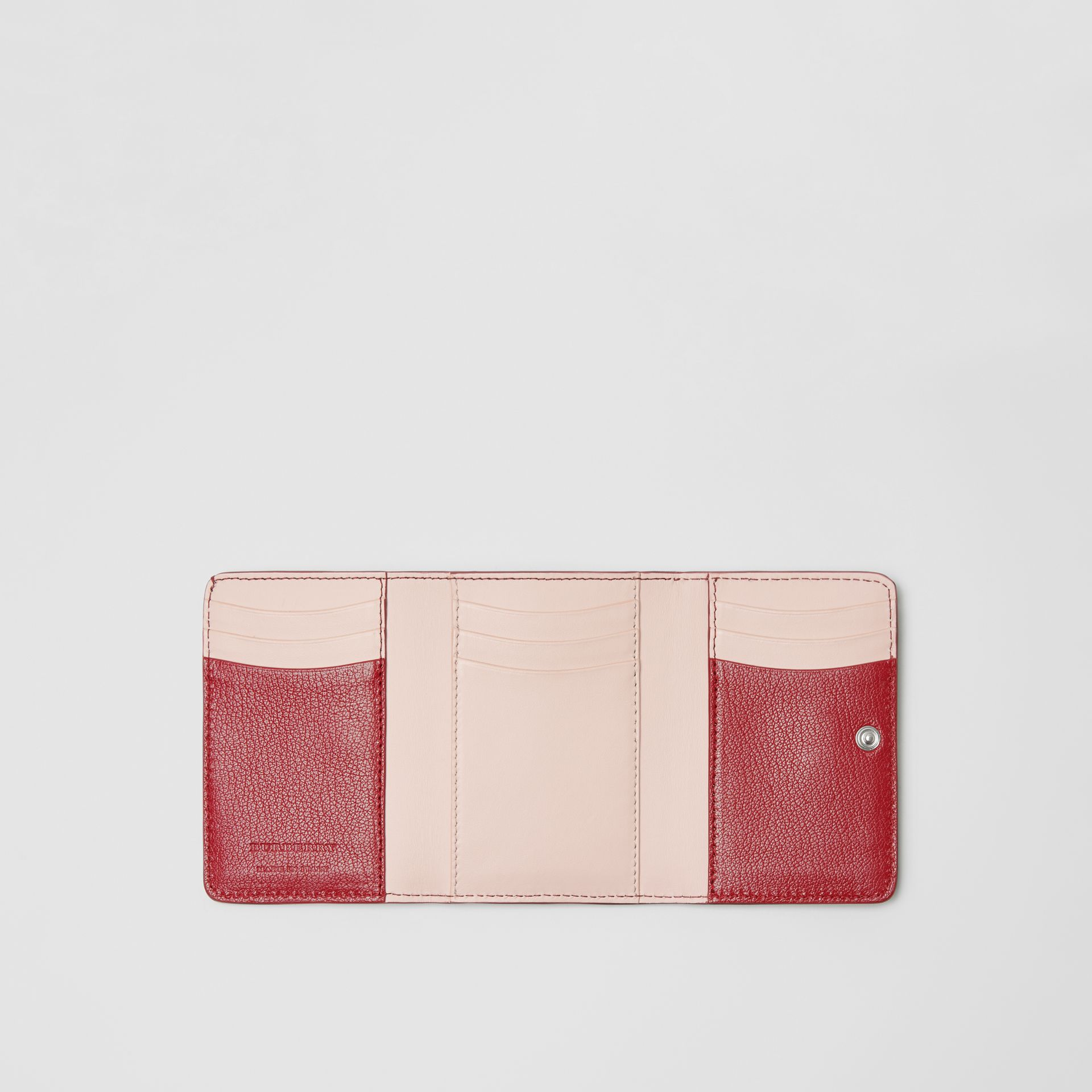 Small D-ring Leather Wallet in Crimson - Women | Burberry - gallery image 2