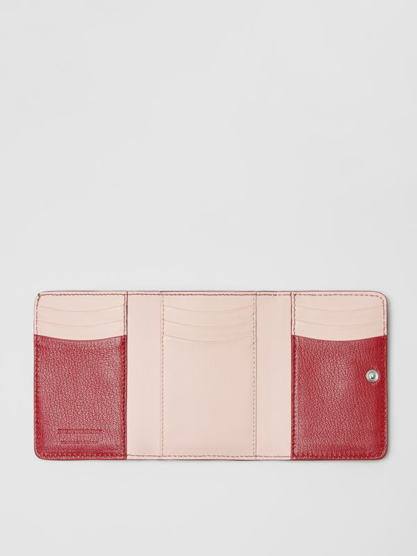 Small D-ring Leather Wallet in Crimson - Women | Burberry - cell image 2