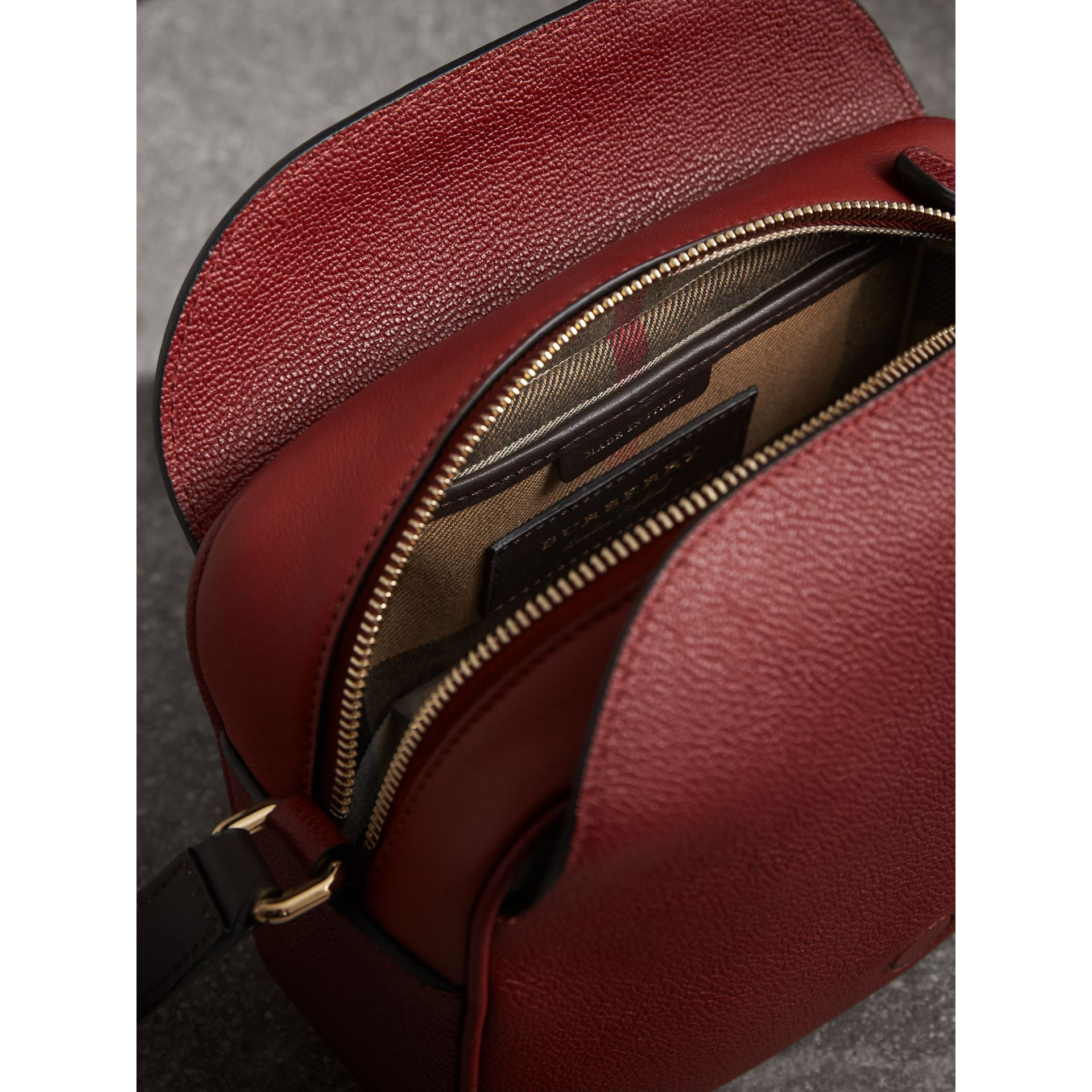 The Small Buckle Crossbody Bag in Two-tone Leather in Antique Red - Women | Burberry United States - gallery image 4